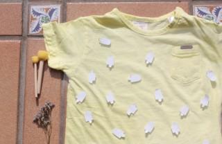Camiseta helados handmade plantilla detalle